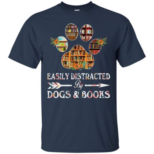 Easily distracted by dogs and books shirt - image 1524 510x510