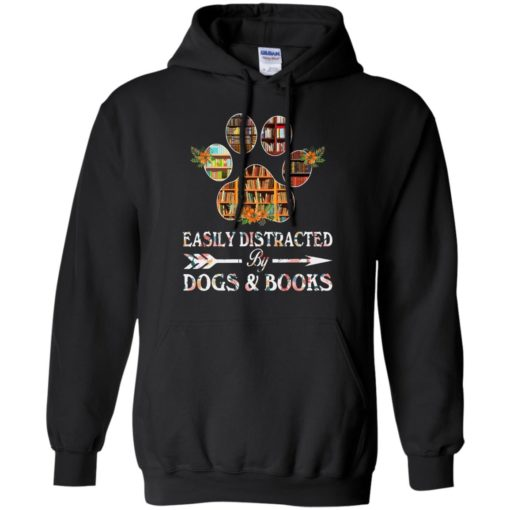 Easily distracted by dogs and books shirt - image 1527 510x510
