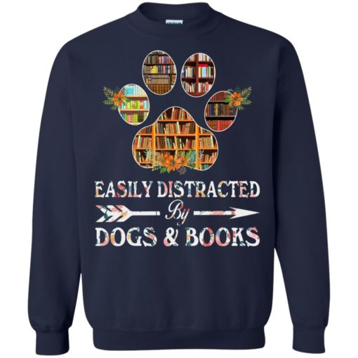 Easily distracted by dogs and books shirt - image 1529 510x510