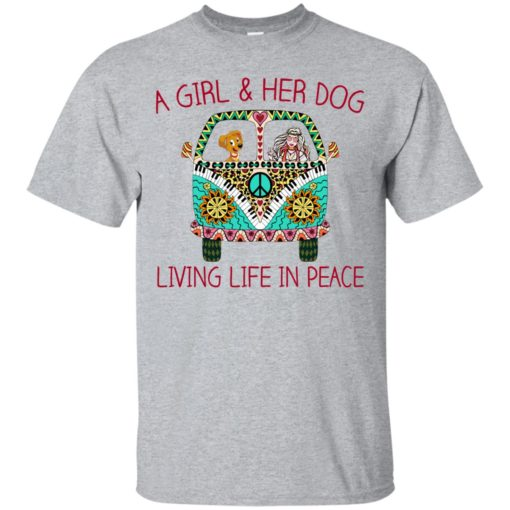 A girl and her dog living life in peace shirt - image 1783 510x510