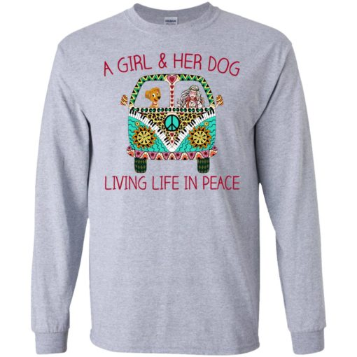A girl and her dog living life in peace shirt - image 1785 510x510