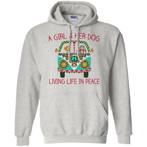 A girl and her dog living life in peace shirt - image 1787 510x510
