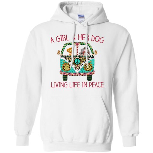 A girl and her dog living life in peace shirt - image 1788 510x510