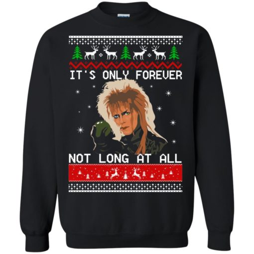David Bowie It's only forever not long at all Christmas sweater shirt - image 2027 510x510