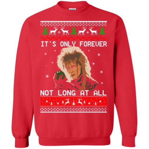 David Bowie It's only forever not long at all Christmas sweater shirt - image 2029 510x510
