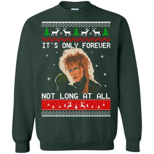 David Bowie It's only forever not long at all Christmas sweater shirt - image 2030 510x510