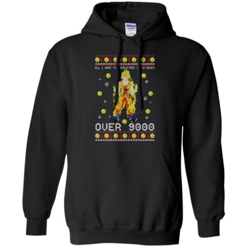 Dragon Ball Z All I Want For Christmas is to Reach Over 9000 Sweatshirt shirt - image 2096 510x510