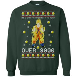 Dragon Ball Z All I Want For Christmas is to Reach Over 9000 Sweatshirt shirt - image 2100 247x247