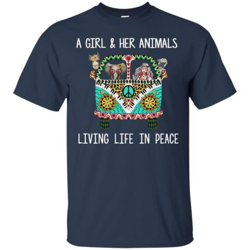 A girl and her Animals Living Life In Peace shirt - image 2484 510x510