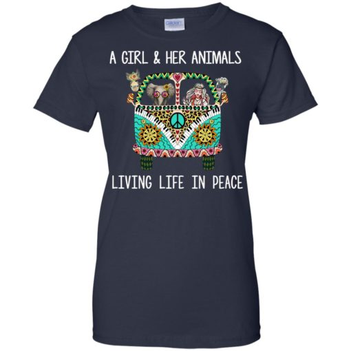 A girl and her Animals Living Life In Peace shirt - image 2490 510x510