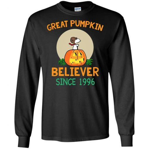 Snoopy Great Pumpkin Believer Since 1996 shirt - image 25 510x510