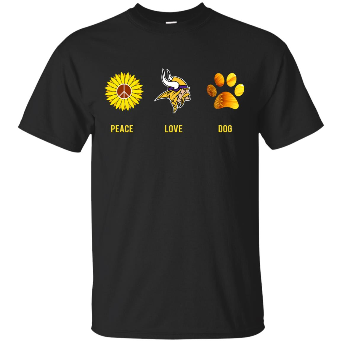94b083a7d Minnesota Vikings peace love dog t-shirt, hoodie, ladies tee