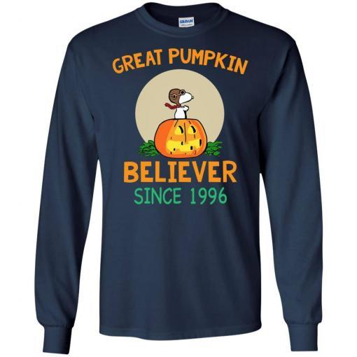 Snoopy Great Pumpkin Believer Since 1996 shirt - image 26 510x510