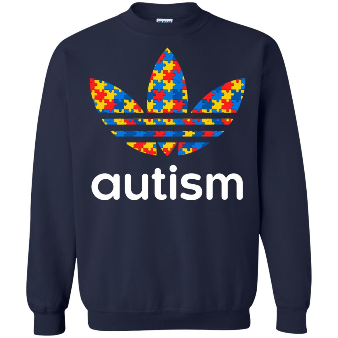 Autism Adidas T Shirt Hoodie Sweater Long Sleeve [ 1155 x 1155 Pixel ]
