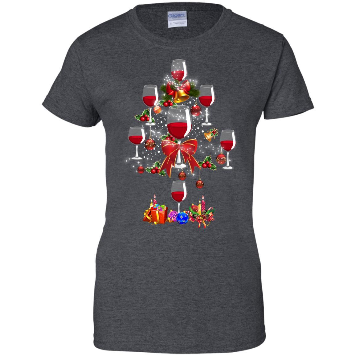 Wine Christmas Tree Shirt.Wine Christmas Tree
