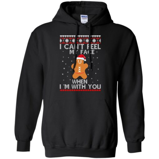 I can't Feel my Face when I'm with you Gingerbread Christmas Sweater shirt - image 2898 510x510