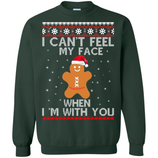 I can't Feel my Face when I'm with you Gingerbread Christmas Sweater shirt - image 2902 510x510