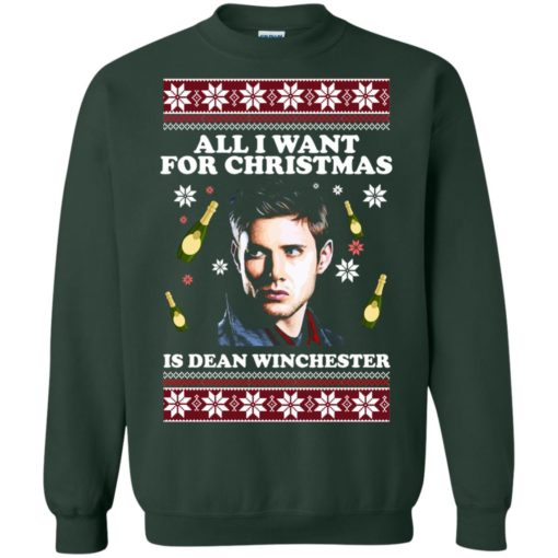 All I want for Christmas  is Dean Winchester ugly sweatshirt shirt - image 2962 510x510