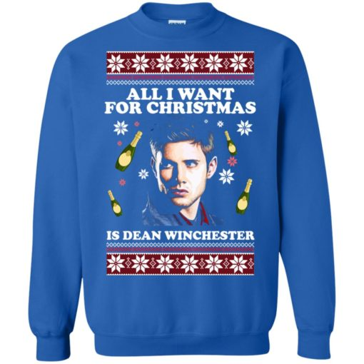 All I want for Christmas  is Dean Winchester ugly sweatshirt shirt - image 2963 510x510