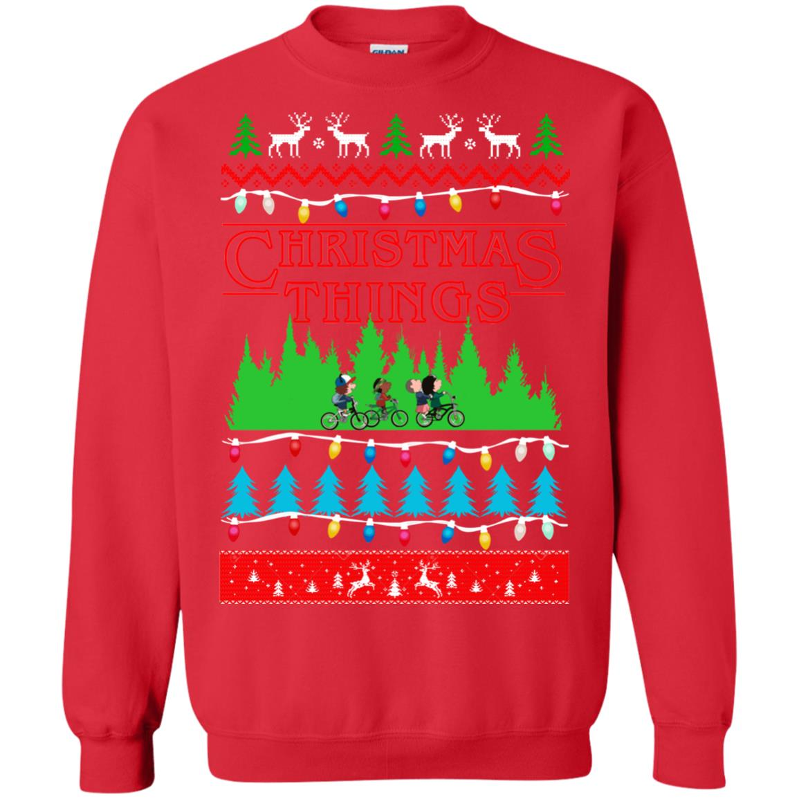 Stranger Things Ugly Christmas Sweater.Stranger Things Christmas Things Ugly Sweatshirt