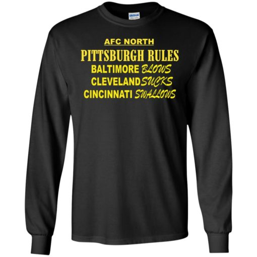 AFC North Pittsburgh rules Baltimore blows shirt - image 313 510x510