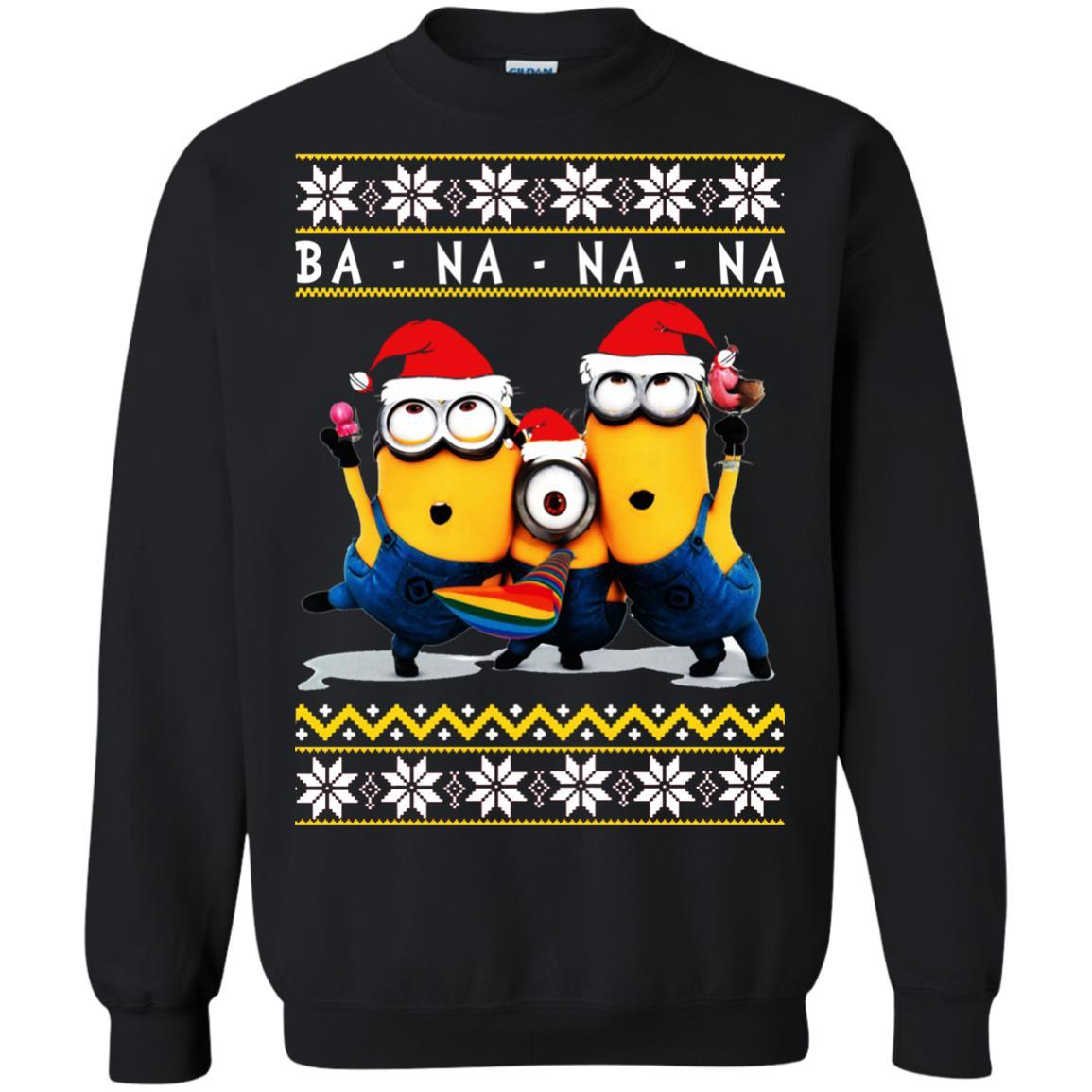 Minion Christmas.Minion Banana Christmas Ugly Sweatshirt