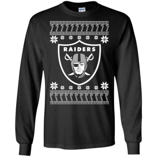 Oakland Raiders Christmas ugly sweater shirt - image 4070 510x510
