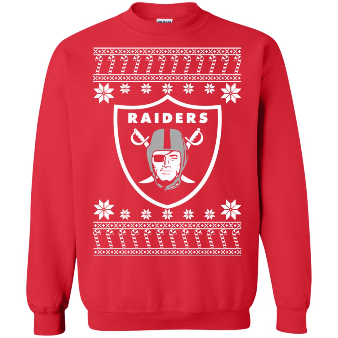 Oakland Raiders Christmas Ugly Sweater T Shirt Long Sleeve