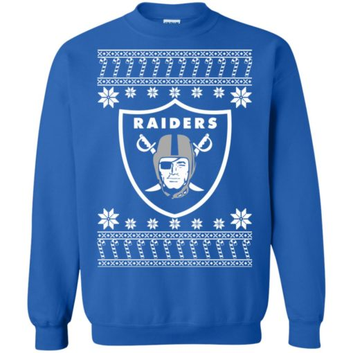 Oakland Raiders Christmas ugly sweater shirt - image 4077 510x510