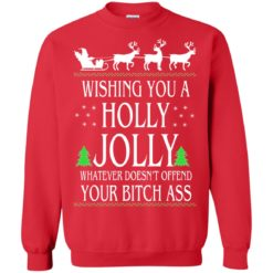 Wishing you a Holly Jolly Christmas sweatshirt shirt - image 4095 247x247