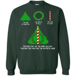The Tree Of Christmas The Wreath Of Holly The Cane Of Candy sweatshirt shirt - image 4136 247x247