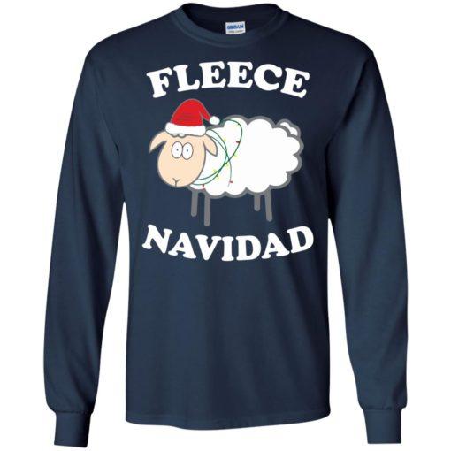 Fleece Navidad Sheep Christmas sweater shirt - image 4441 510x510