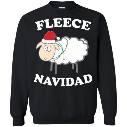 Fleece Navidad Sheep Christmas sweater shirt - image 4443 510x510