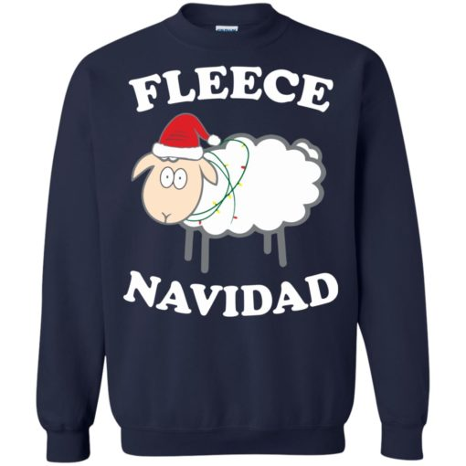Fleece Navidad Sheep Christmas sweater shirt - image 4444 510x510