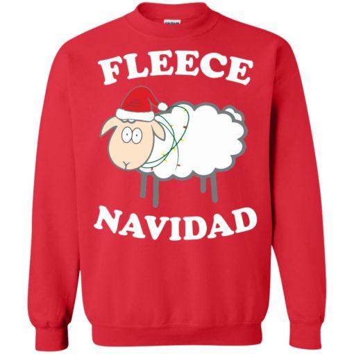 Fleece Navidad Sheep Christmas sweater shirt - image 4445 510x510