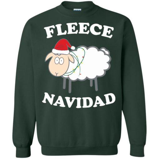 Fleece Navidad Sheep Christmas sweater shirt - image 4446 510x510