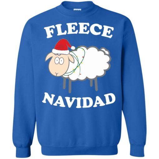 Fleece Navidad Sheep Christmas sweater shirt - image 4447 510x510