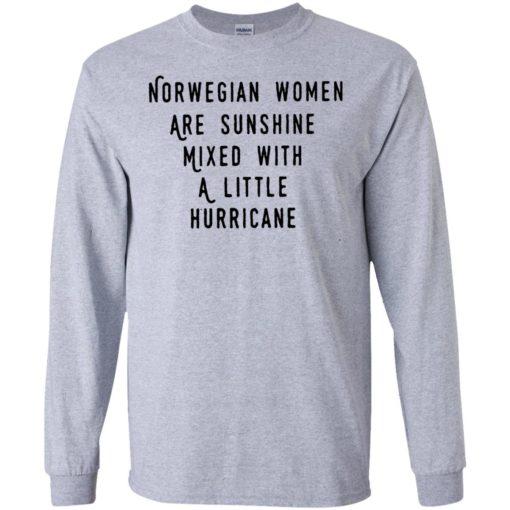 Norwegian women are sunshine mixed with a little hurricane shirt - image 4609 510x510