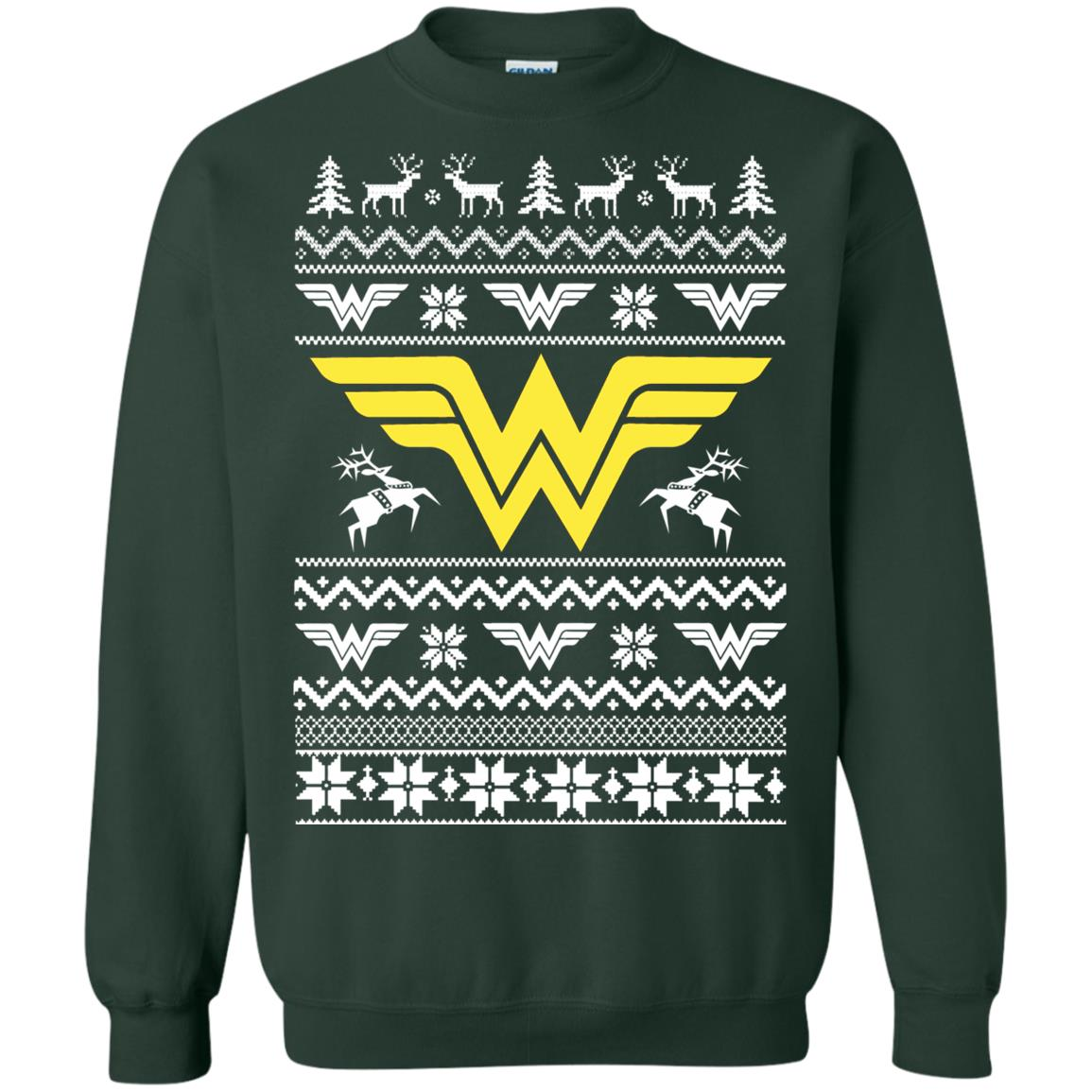 wonder woman christmas ugly sweater shirt image 4734 510x510