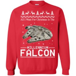 All I Want For Christmas Is The Millennium Falcon Sweatshirt shirt - image 4933 247x247