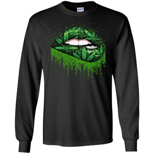 Weed lips love shirt - image 511 510x510