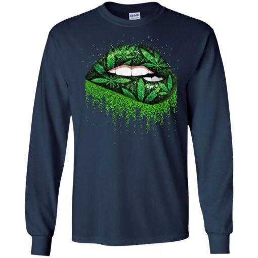 Weed lips love shirt - image 512 510x510