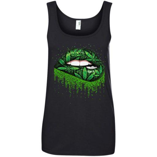 Weed lips love shirt - image 515 510x510