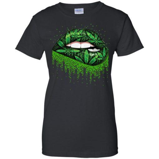 Weed lips love shirt - image 516 510x510