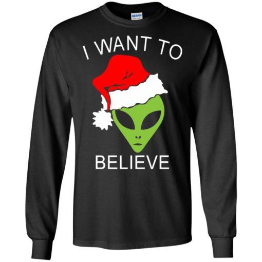 Alien I Want To Believe Christmas sweatshirt shirt - image 1315 510x510