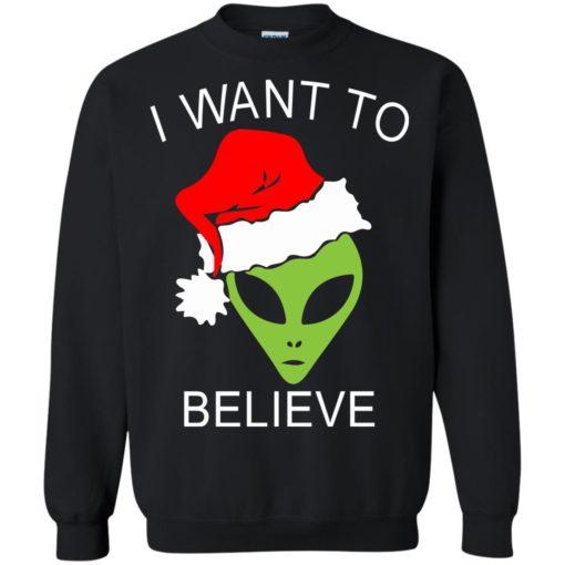 Alien I Want To Believe Christmas sweatshirt shirt - image 1318 510x510