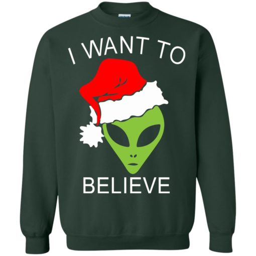 Alien I Want To Believe Christmas sweatshirt shirt - image 1321 510x510