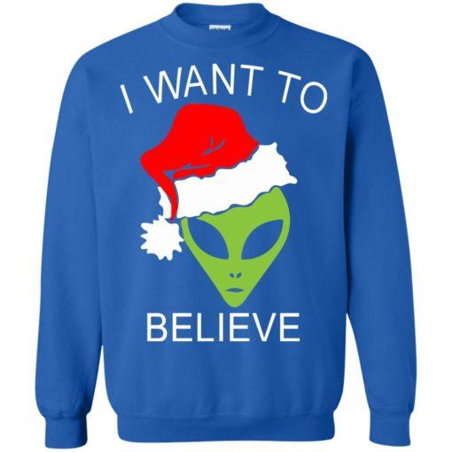 Alien I Want To Believe Christmas sweatshirt shirt - image 1322 510x510