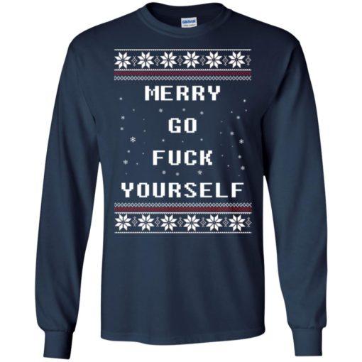 Merry go fuck yourself Christmas sweatshirt shirt - image 1356 510x510