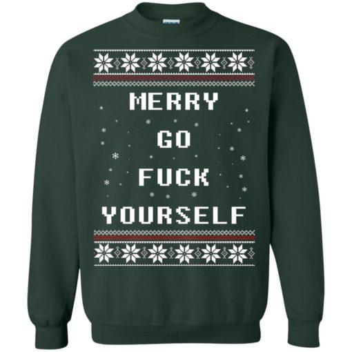 Merry go fuck yourself Christmas sweatshirt shirt - image 1361 510x510